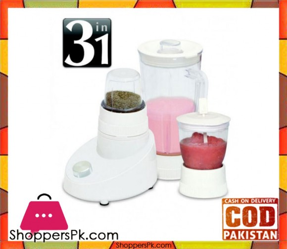 Cambridge Appliance BL 224 - 3 in 1 Blender - White - Karachi Only