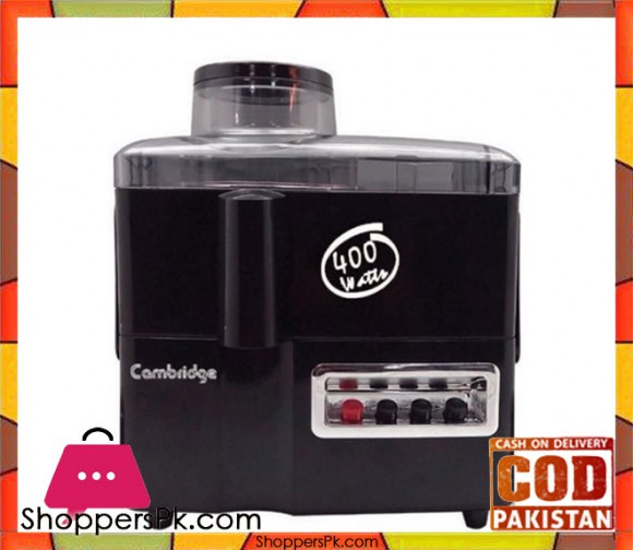 Cambridge Appliance JE5566 - Hard Fruit Juicer - Black - Karachi Only
