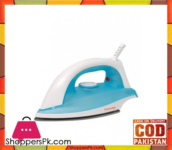 Cambridge Appliance DI7911 - Dry Iron - 1000W - White & Blue - Karachi Only