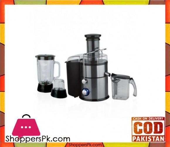 Cambridge Appliance JB-6406 - 3 in 1 Multi Purpose Juice Extractor - Black & Silver - Karachi Only