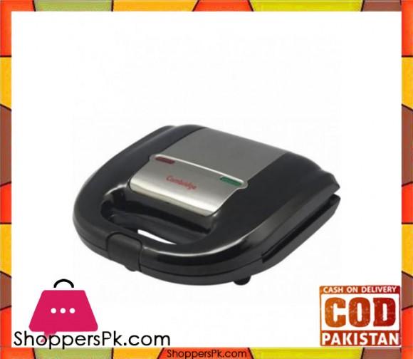 Cambridge Appliance SM 1128 - Sandwich Maker - Black & Silver - Karachi Only
