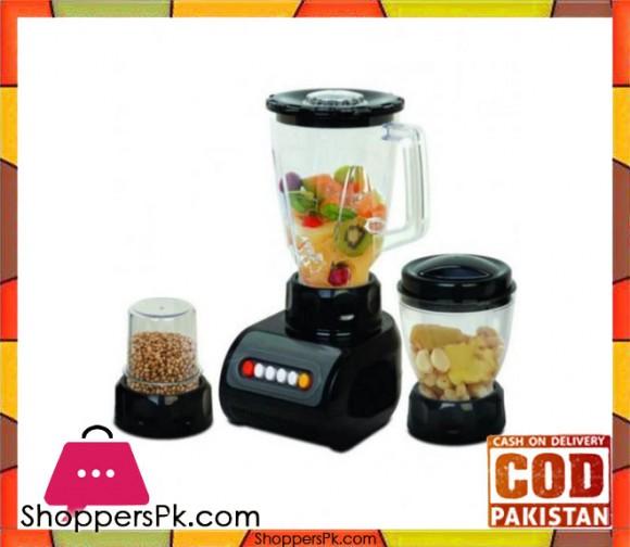 Cambridge Appliance 3 in 1 Blender - BL2156 - Black - Karachi Only