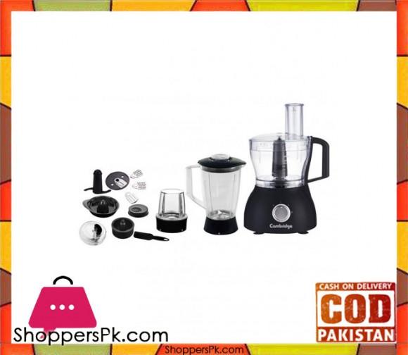 Cambridge Appliance FP 6916 - All in 1 Food Processor - Black - Karachi Only