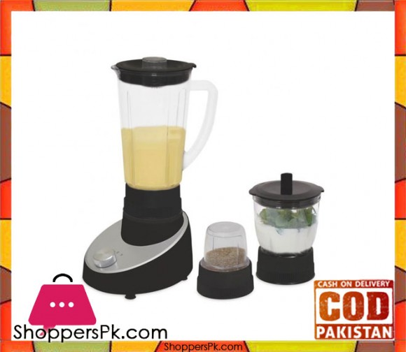Cambridge Appliance BL2266 - 3 in 1 Blender - Black & Silver - Karachi Only