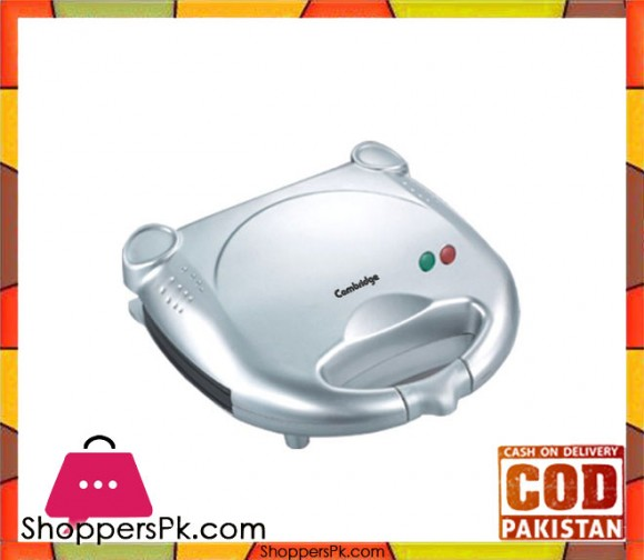 Cambridge Appliance SM 1077 - Sandwich Maker - Silver - Karachi Only
