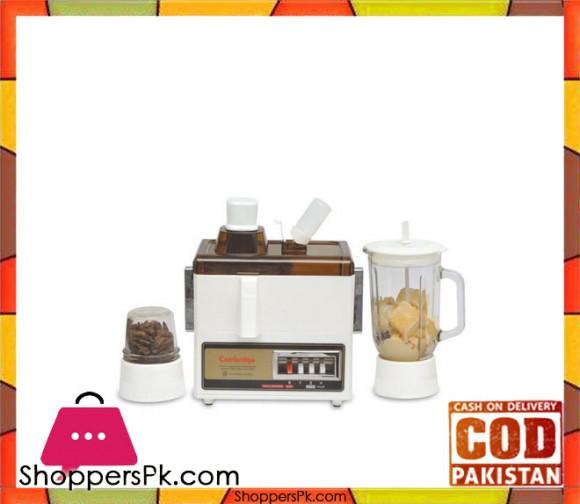 Cambridge Appliance JB6000 - 3 in 1 Juicer Blender - Brown & White - Karachi Only