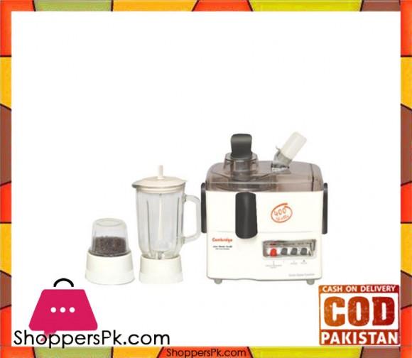 Cambridge Appliance JB6606 - 3 in 1 Juicer Blender - White & Black - Karachi Only