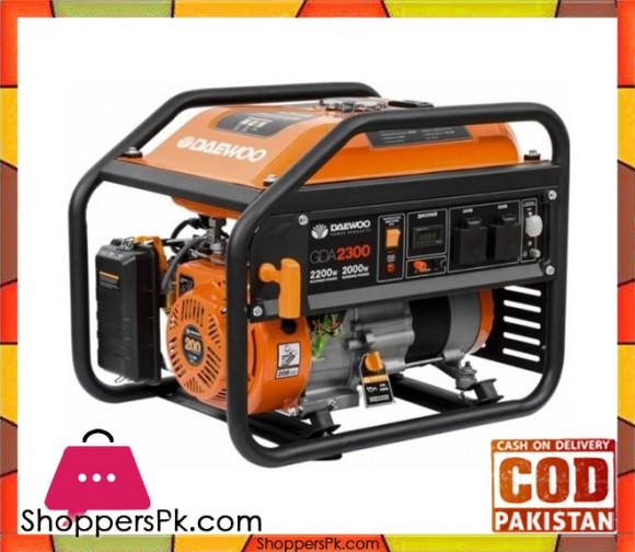 "Daewoo Petrol Generator 2.2 kW - GDA2300E - Electric Start "" Orange - Karachi Only"