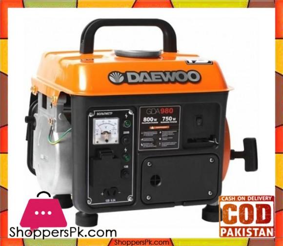 Daewoo Petrol Generator 0.72 kW - GDA980 - Orange - Karachi Only