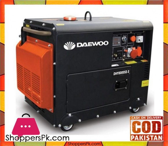 "Daewoo Diesel Generator 5.3 kW - DDAE6100SE - Electric Start "" Black - Karachi Only"
