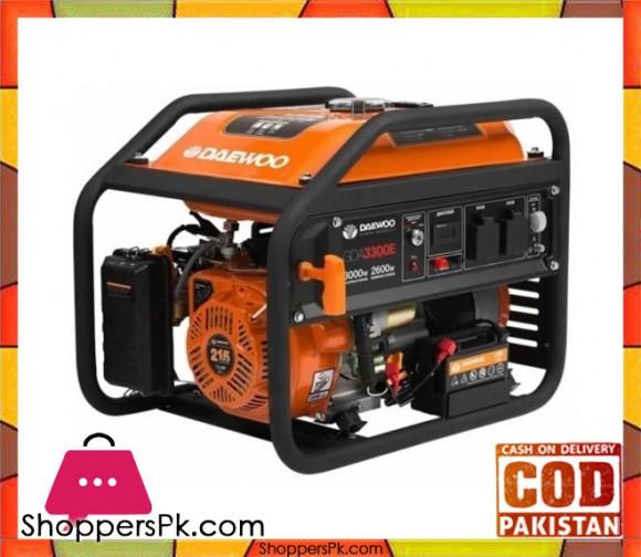 Daewoo GDA3300E - Electric Start Petrol Generator - 2.8 kW - Orange - Karachi Only