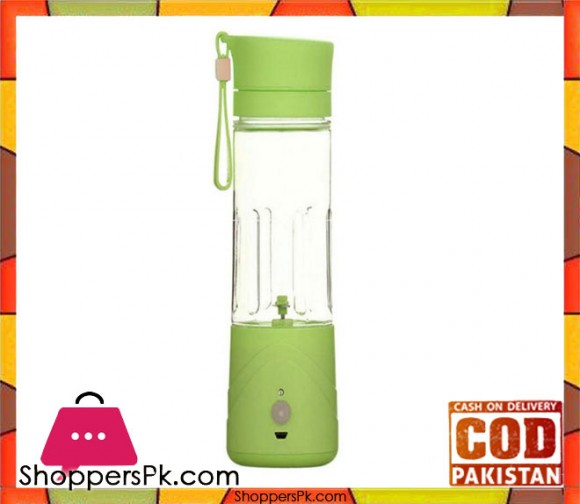 DD Rechargeable Juicer Blender Bottle - 380ml - Green - Karachi Only