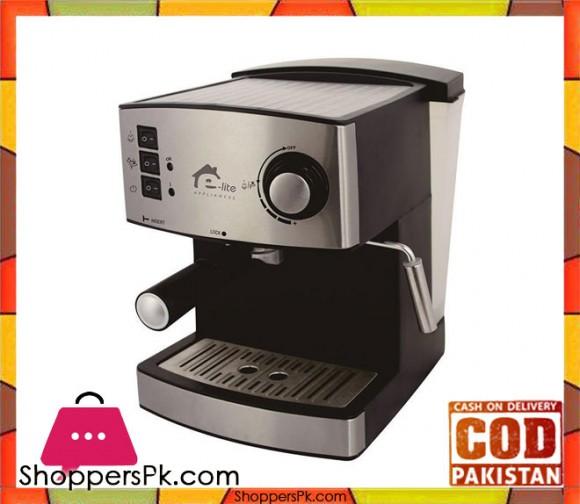 E-Lite Appliances ESM-122806 - Espresso Machine - Silver (Brand Warranty) - Karachi Only