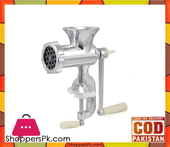 Alloy Meat Mincer - Silver - Karachi Only
