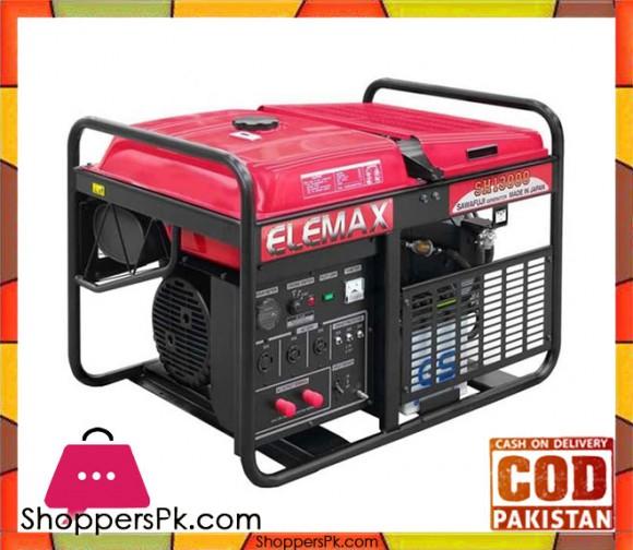 Elemax Petrol Generator 11 KW - SH13000 - Red - Karachi Only