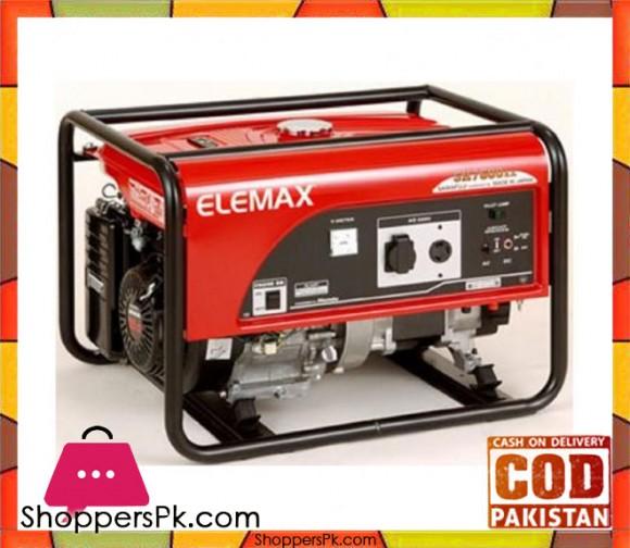 Elemax Petrol Generator 6.5 KVA - SH7600EX - Red - Karachi Only