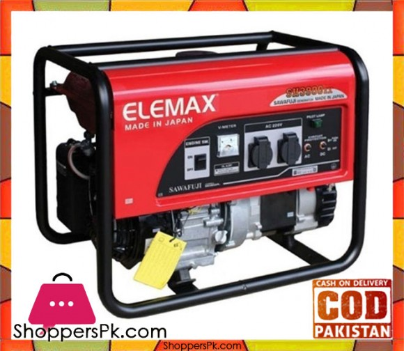 Elemax Petrol & Gas Generator - (ELECTRIC START WITH BATTERY) SH3900EX - 3.3 KVA - Red - Karachi Only