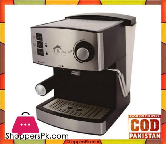 E-lite Espresso Machine - ESM-122806 - Silver - Karachi Only