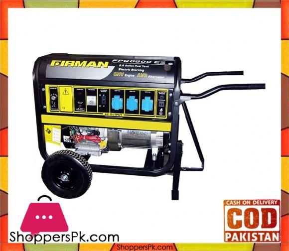 Firman FPG8000E2 - Petrol & Gas Generator - 5KVA - Black - Karachi Only