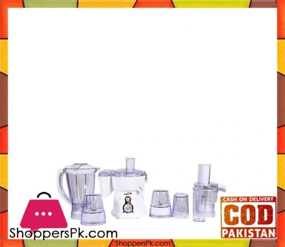 Gaba National Gn-920 - Food Processor - 9 in1 - White (Brand Warranty) - Karachi Only