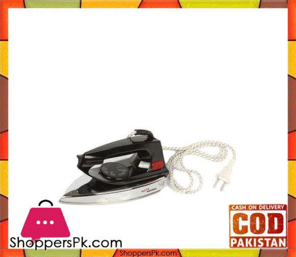 Gaba National GN-7212 - Iron - Black & Silver (Brand Warranty) - Karachi Only