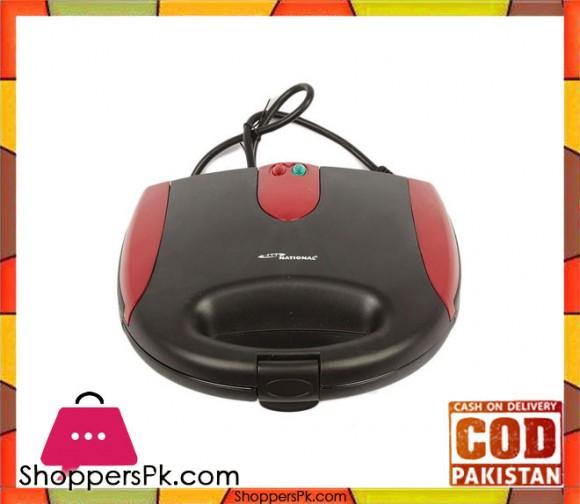 Gaba National GN-7014 - Sandwich Maker - Red (Brand Warranty) - Karachi Only