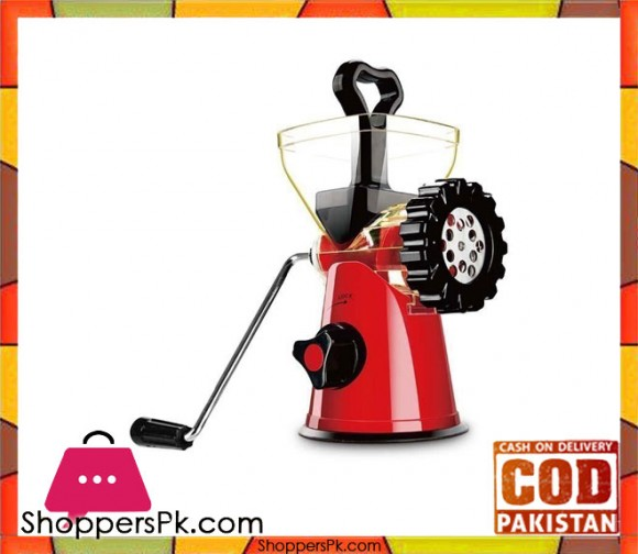 Hotline Handy Meat Mincer - Red - Karachi Only