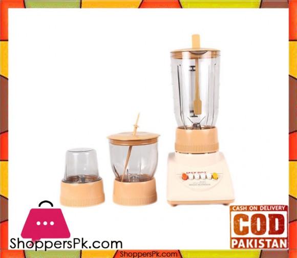 Jack Pot Deluxe-Blender with Grinder and Chopper - Beige (Brand Warranty) JP-739 - Karachi Only