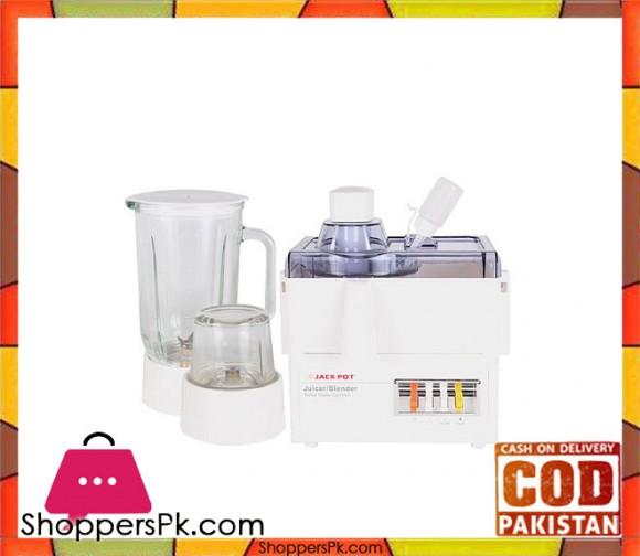 Jack Pot JP-177 - Juice Extractorwith Blenderand Grinder - White (Brand Warranty) - Karachi Only