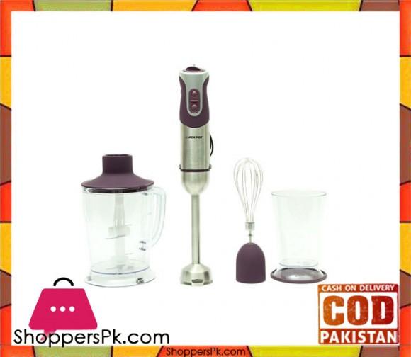 Jack Pot - Hand Blender Set - Purple and Silver (Brand Warranty) JP-904 - Karachi Only