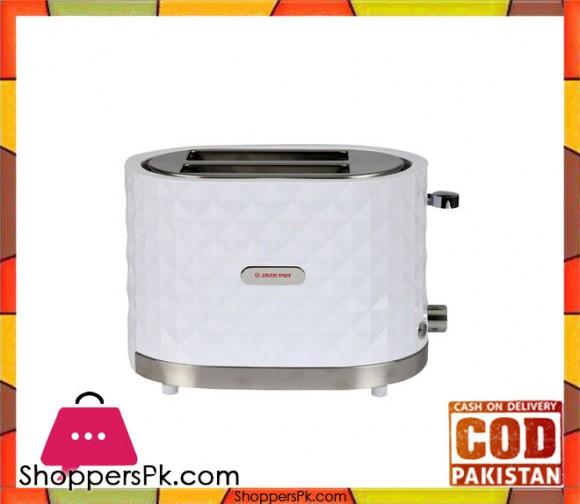 Jack Pot JP-976 - 2 Slice Toaster - White - Karachi Only