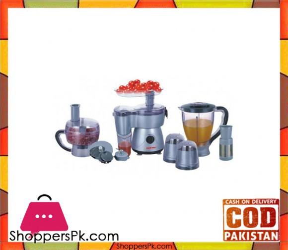 Jack Pot Food Processor - 9 in 1 - Silver JP-990 - Karachi Only