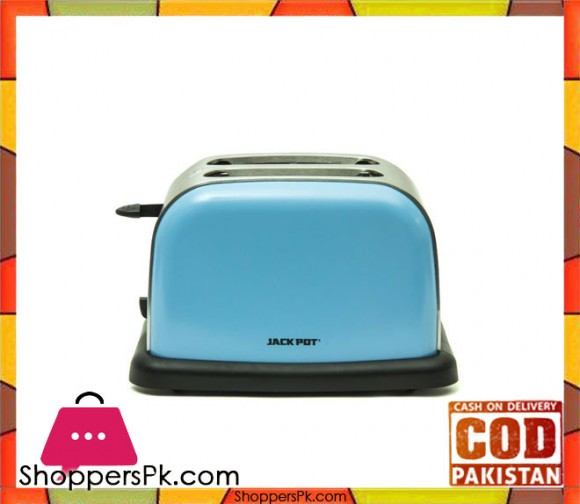 Jack Pot JP-862 C -2 Slice Toaster - Blue - (Brand Warranty) - Karachi Only