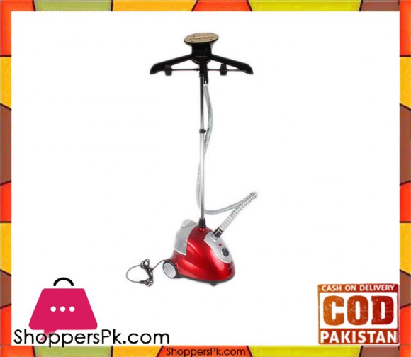 Jack Pot JP-16-Dry Iron Multi Function Garment Steamer - Red (Brand Warranty) - Karachi Only