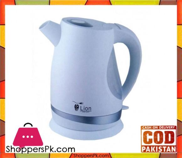 Lion 1005 - Electric Kettle - 1.7L - 2000W - White & Grey - Karachi Only