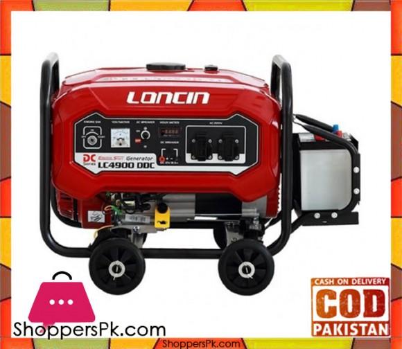 Loncin LC4900DDC - Petrol & Gas Generator - 3.1 KW - Red - Karachi Only