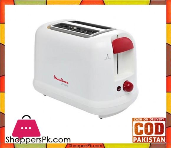 Moulinex Toaster - Principio 3 LT160127 - White - Karachi Only