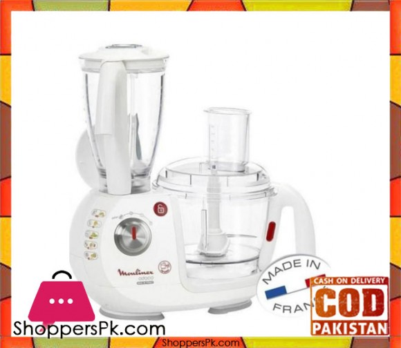 Moulinex Odacio Blender - FP7331BM - White - Karachi Only