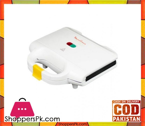 Moulinex Sandwich Maker - 700W - White - Karachi Only