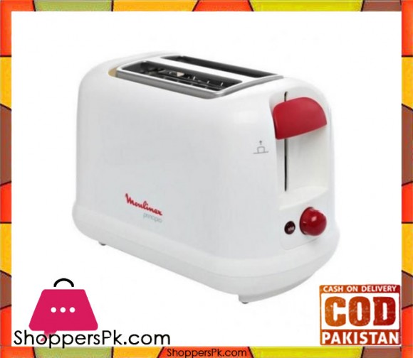 Moulinex Toaster - 850W - White - Karachi Only