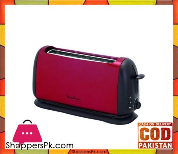 Moulinex Toaster Long Slot - Red - Karachi Only