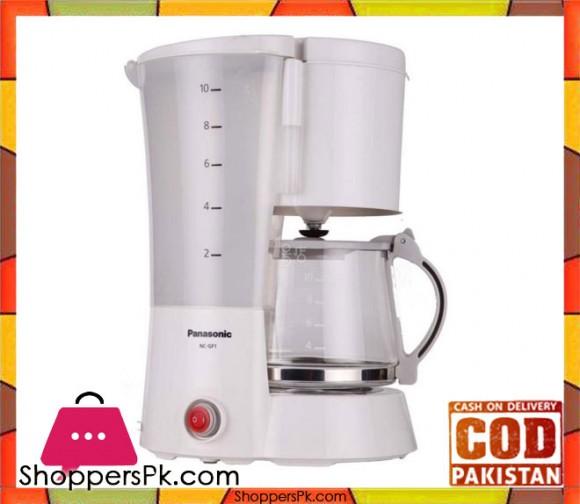 Panasonic NC-GF1 - 10-Cup Coffee Maker - 220 Volt - White - Karachi Only