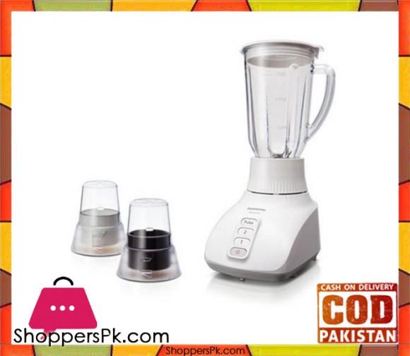 Panasonic Blender With Plastic Jar - MX-GX1521WTN - White - Karachi Only