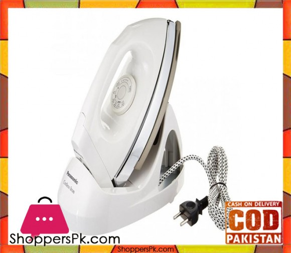 Panasonic NI-100DX - Cordless Dry Iron with Non-Stick Soleplate - White - Karachi Only