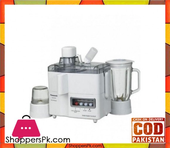 Panasonic MJ-M-176P - White - 3 in 1 - Juicer, Blender & Mill - Karachi Only