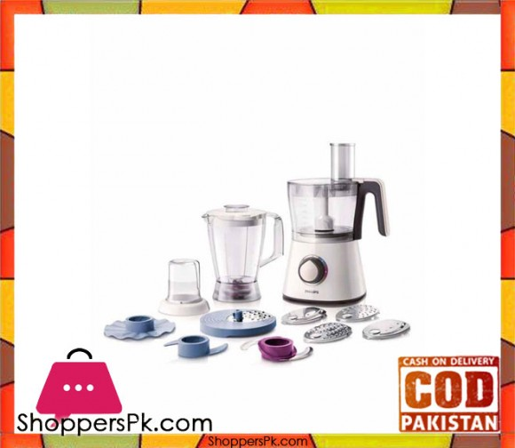 Philips Viva Collection Food Processor - HR7761/00 - 750W - White - Karachi Only