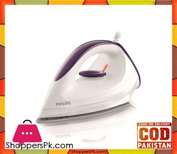 Philips GC160/22 - DynaGlide Sole-plate Dry Iron - 1200 W (Brand Warranty) - Karachi Only