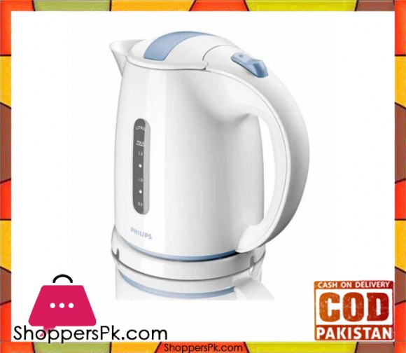Philips HD4646/70 - 1.5L - 2400W Daily Collection Kettle - White & Blue - Karachi Only