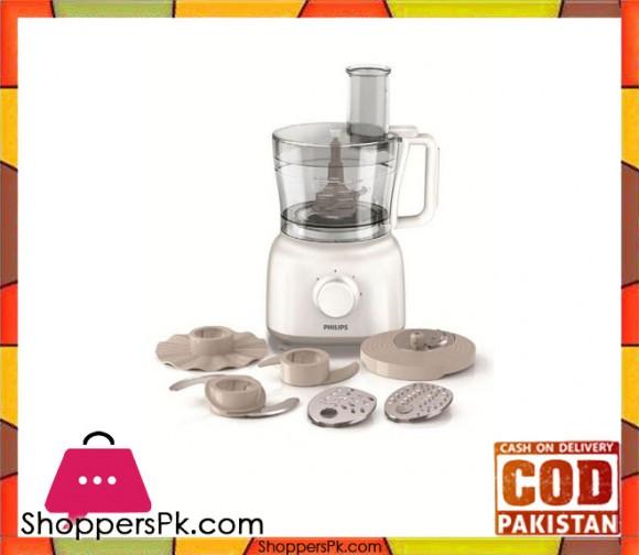 Philips Food Processor - HR-7627 - White - Karachi Only