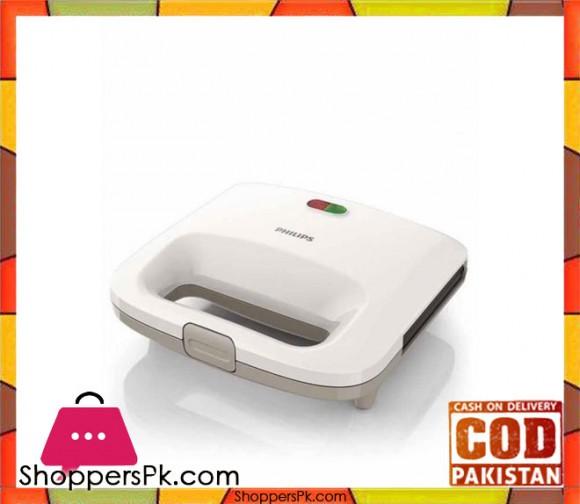 Philips HD2393/02 - Sandwich Maker - White - Karachi Only